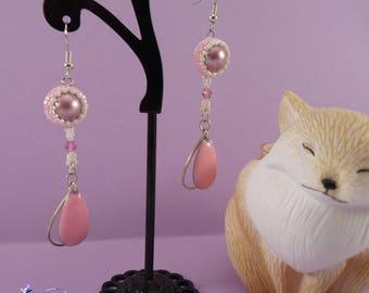 Easter in woven swarovski Pearl Earrings