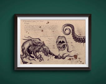 Large - Shoggoth - Lovecraft Art Print