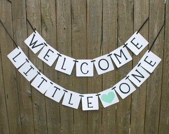 Welcome Little One Banner, Baby Shower Banner, Welcome Baby Banner, Welcome Banner, Baby Shower Decoration, Birth Announcement