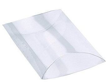"Clear Pillow Boxes Inches 3-1/2"" X 3/4"" X 5-1/2""  (Millimeters 88.9mm x 20mm x 140mm)"
