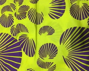 Fabric Wax Violet yellow coupon 50/50 cm 48H