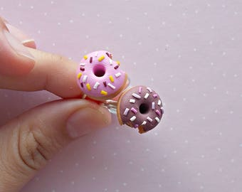 Donut Ring - Friendship Rings - Chocolate Donut - Doughnut Rings - Miniature Food - Foodie Gift - Gift for her - Kids Ring - Cute Ring