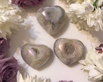 Angel aura heart geode