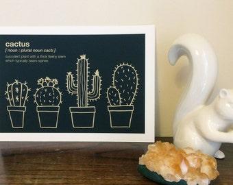 A4 Cactus Giclée Art Print