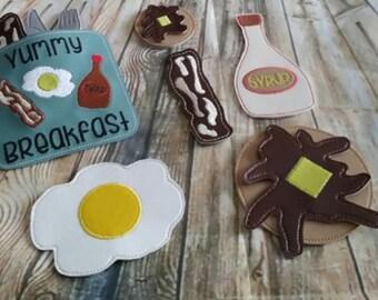 In The Hoop - Breakfast Play Food Set - DIGITAL Embroidery DESIGN