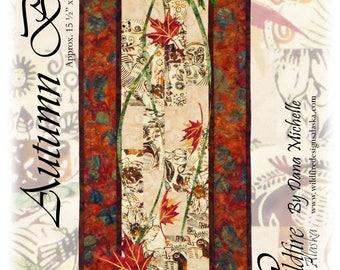 Autumn Breeze Maple Leaves Table Runner Wildfire Designs Alaska Quilt Pattern