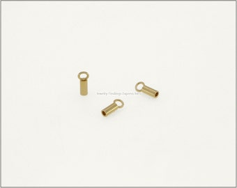20 pc.+  1.2mm Crimp End Cap, Crimp Ends, Cord Ends, Chain Ends for Cords & Chains - Gold color