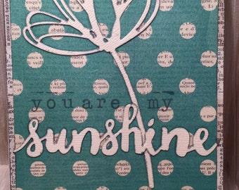 You Are My Sunshine Card//Handmade Card