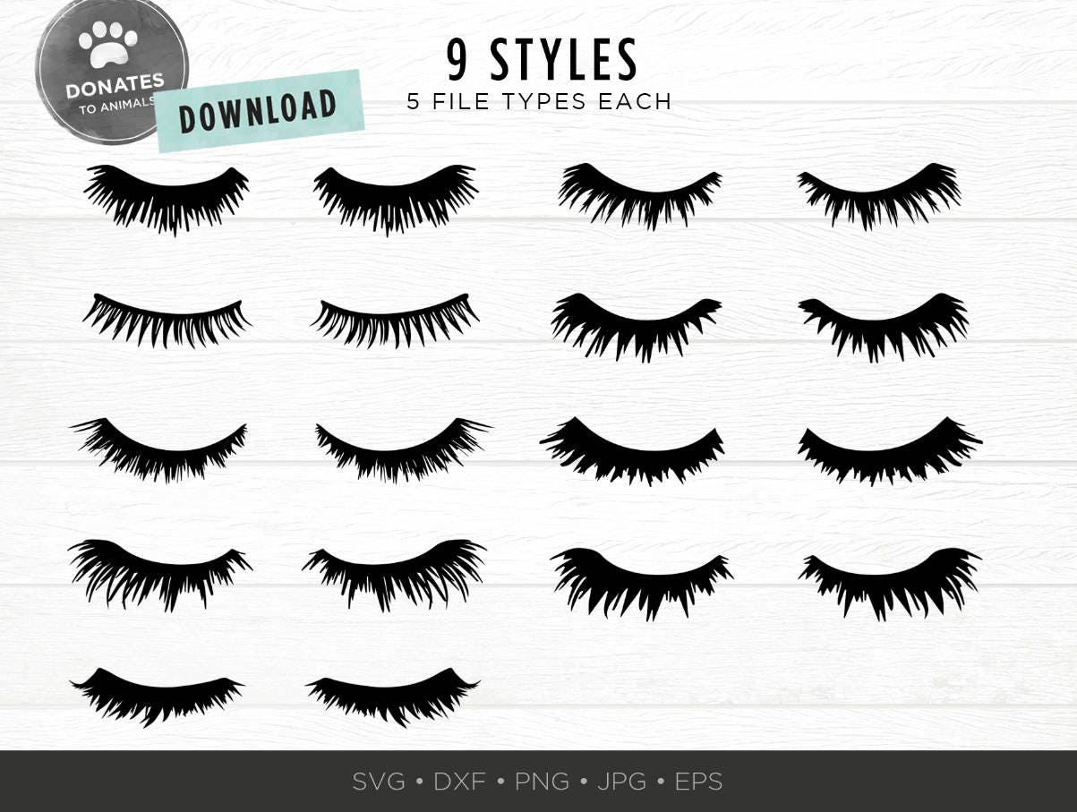 Eyelashes Svg Bundle Lashes Svg Eyes Svg Pack Cut File