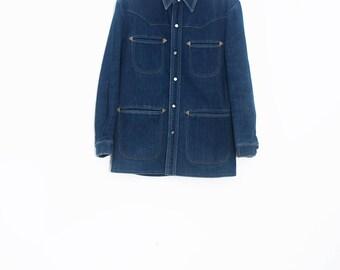 70's jean jacket | Vintage denim jacket | Western jean jacket | Jean coat | 70's western | WESCOTT