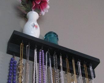 Necklace Organizer Display with shelf