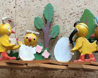 Easter Miniature Wooden Vignette
