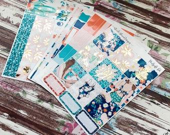 FOIL Poolside B6 Kit, planner stickers