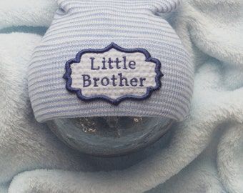 Newborn Hospital Hat. Little Brother Newborn Hat. Newborn Hospital Beanie