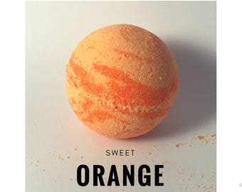 Orange Bath Bomb - Citrus Bath Bomb - Gift for her - Gift for Friend - Essential Oil bath bomb - Orange essential oil - Bath Fizzy