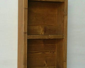 Rustic shelf in solid wood, also suitable for bathroom and kitchen