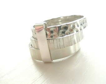 Sterling Silver Trio Band Three Stacked Rings by Stilosissima - Stilosissima