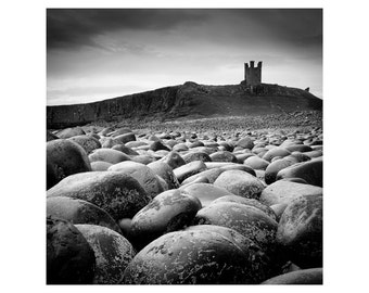 Castle and Rocks: Historic English Landscape Photography. Black and White.