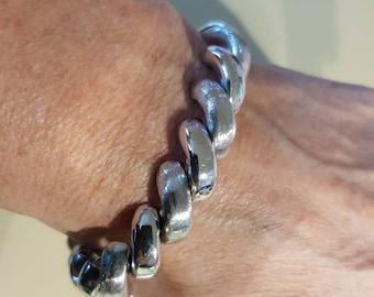 Silver Bracelet Heavy Solid 835