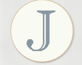 Castellar J Cross Stitch Pattern