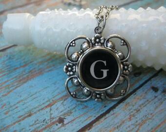 Typewriter Key Jewelry - Letter G
