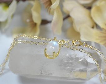 Moonstone Necklace - 14k Gold Fill