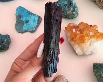 Black Tourmaline Stone/ Protection Amulet Crystal, Free Shipping