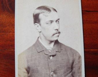 Carte de Visite of a man with moustache.1882