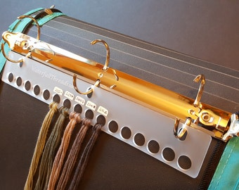 3-Ring Binder Thread Organizer for DMC Floss, Threads and Craft Fibers