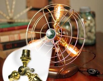 Fan lamp kit diy kit how to lamp parts lamp supplies fan lamp kit diy kit candelabra how to lamp parts lamp aloadofball Image collections