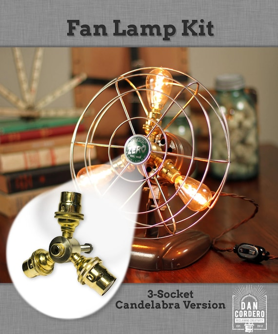 Fan lamp kit diy kit candelabra how to lamp parts aloadofball Image collections
