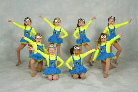 sc 1 st  Etsy & Costume Minion Dancewear girls CUSTOM MADE