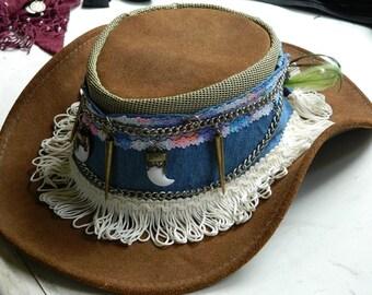 Denim Hat Band