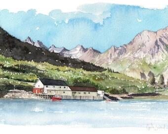 Original watercolour - Lofoten