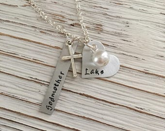 Godmother Gift, Christening, Godparent, Godmother Jewelry, Baptism Gift, Godparent Gift, First Communion, Religious, Godmom Gift, Godparent