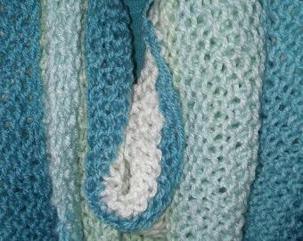 Boomerang shawl