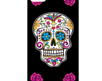 IPhone case - Mexican skull - 3D Iphone 4 / 4s - 5 / 5 S - 5 c - 6 / 6 S - 6 more-7/8-7 more