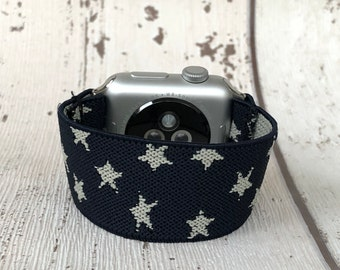Apple Watch Band 38mm 42mm Apple Watch Strap Comfortable Apple Watch Bracelet iWatch band Elastic Apple Watch Band Navy Blue Gift for Him