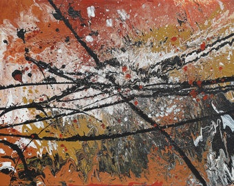 Original Abstract Art / Painting on Canvas 40 x 30