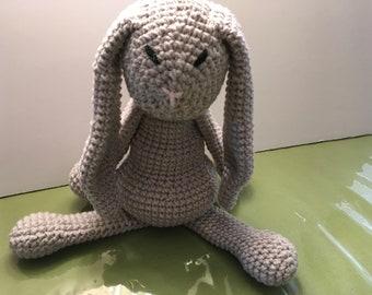 Gray crocheted bunny
