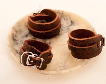 Rustic cuff wristband arm band Italian designer leather larp hipster industrial steampunk post apo viking game of thrones warcraft costume