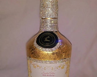 Personalized Bottle covered in 24K Gold