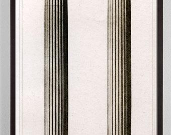 Large Vertical Art, Large Vertical Wall Art, Antique Architecture Print, Architectural Column, Home Decor, architectural details print
