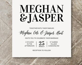 Wedding Invite - Classic Black and White