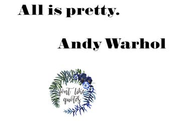 PRINT - Andy Warhol - All is pretty