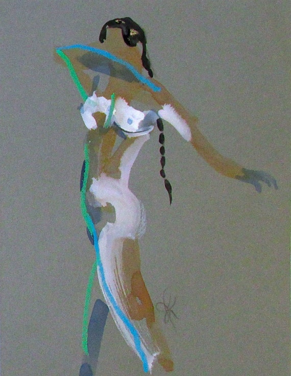 Nude painting of One minute pose 93.7 Original painting by Gretchen Kelly