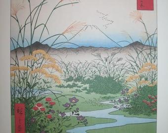 Hiroshige Otsuki no Hara Woodblock Print 1858 for Art and Craft