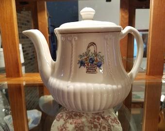 Vintage Porcelier Vitreous China Ceramic Tea Pot