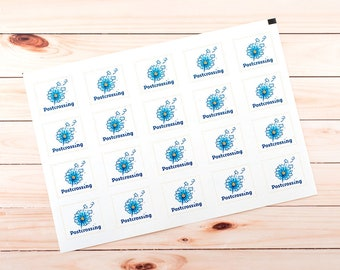 Postcrossing. Set of 20 stickers for postcards, envelopes or letters