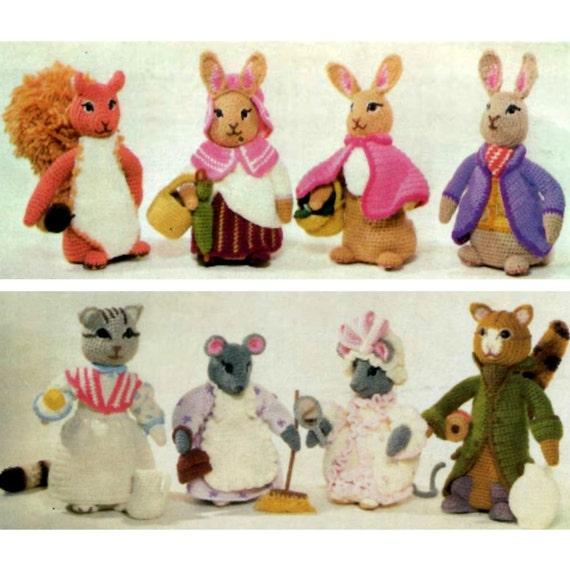 Instant Download Pdf Vintage Crochet Pattern Beatrix Potter